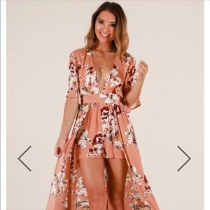 Floral maxi playsuit NWT